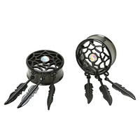 Steel Black Dreamcatcher Plug 2 Pack