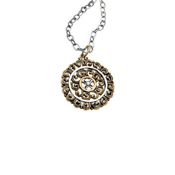 Elements Water Virtue Sterling Silver Bronze Necklace