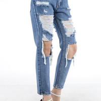 Bandit Distressed Boyfriend Jean