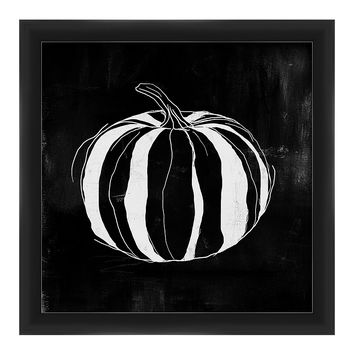 PTM Images Black & White Pumpkin Framed Giclée Print | zulily