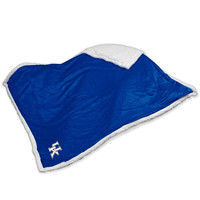 Kentucky Wildcats NCAA  Soft Plush Sherpa Throw Blanket (50in x 60in)
