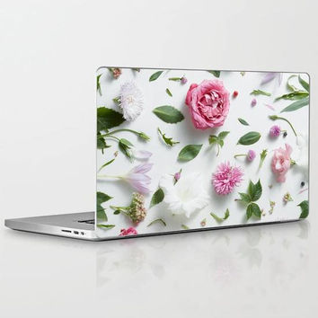 Pink Flower Petals Laptop Decal, Floral Laptop Decal, Botanical Flowers Laptop Decal for Apple Macbook Air, Macbook Pro Retina, Macbook Pro