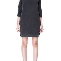 DRESS WITH CUT-OUT SHOULDERS - Dresses - TRF - ZARA United States