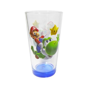 Super Mario Brothers Figures Pint Glass - Novelty Drinking Glasses Kids Gifts Toys and Games Beer Glasses (16 OZ)