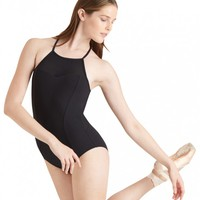 HALTER LEOTARD WITH SHEER INSERTS
