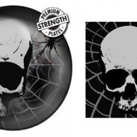 Skull Terror - Party Pack - 8 Plates & 16 Napkins - Creepy Halloween