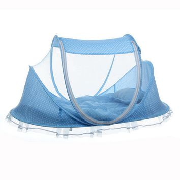 Travel Baby Bed Crib Folding Mosquito Net Dome Tent