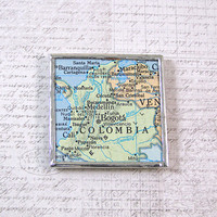 Colombia Map Magnet