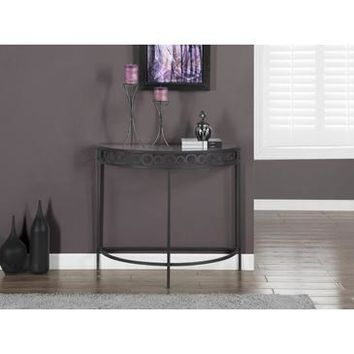 Monarch Specialties Charcoal Grey Metal Hall Console Accent Table I 2121