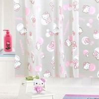 Hello Kitty Shower Curtain: Pink Bubbles