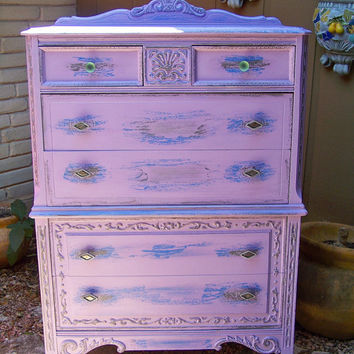 Vintage Painted Victorian Chippy Distressed Chest by TraceysFancy