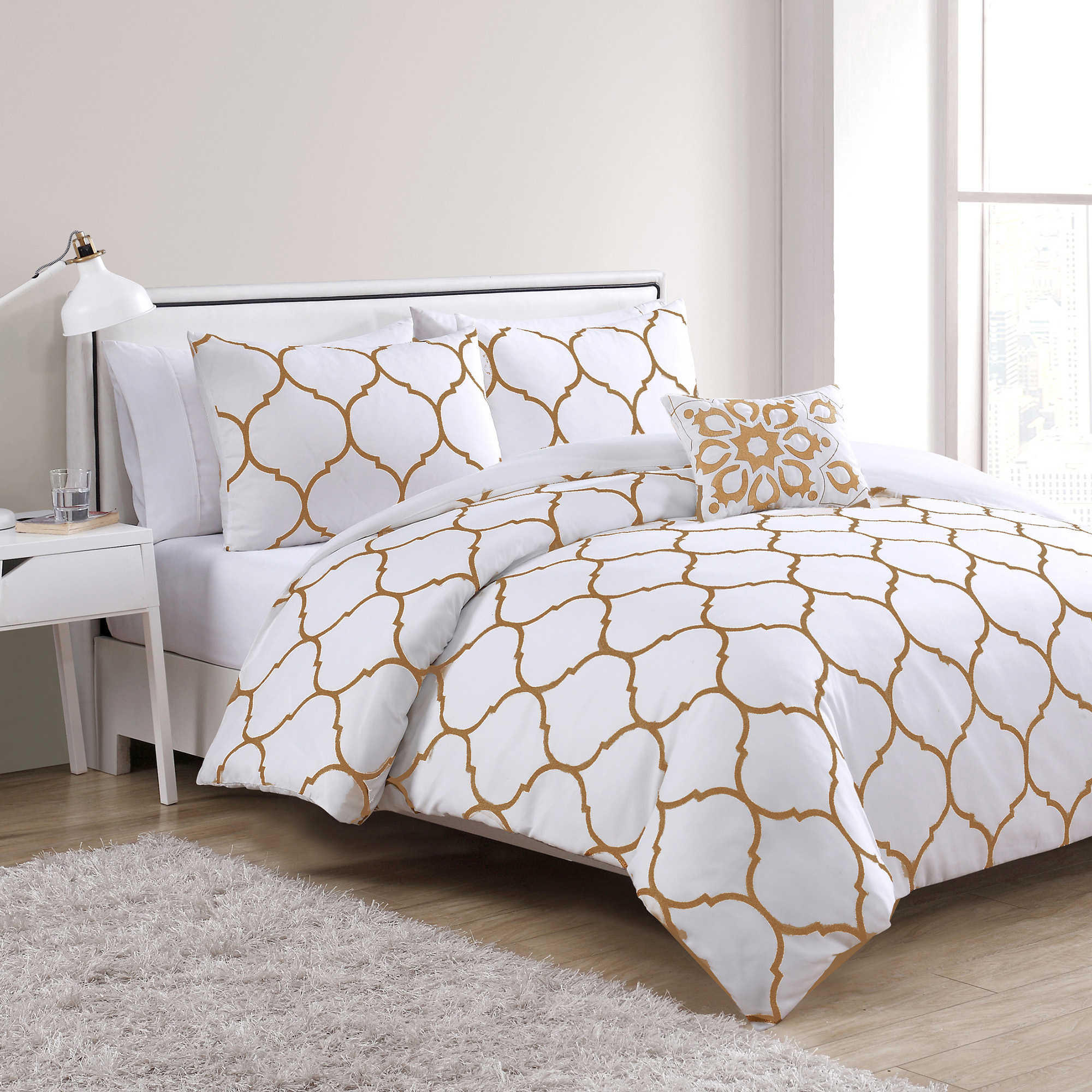 Vcny Ogee 4 Piece Comforter Set In From Bed Bath Amp Beyond