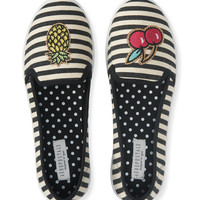 Striped Fruit Patch Slip-On Shoe