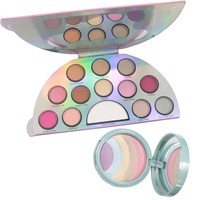 Rainbow Unicorn Eyeshadow Highlighter Makeup Cosmetics Set Matte Shimmer Highlighting Eyeshadow Maquiagem Profissional Completa