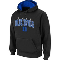 Colosseum Athletics Men's Duke Blue Devils Black Cotton Hoodie