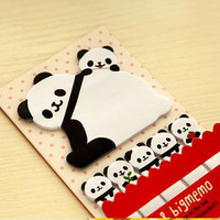 Panda sticky note cute animal stick marker National treasure Mascot Business Agenda memo stick pet sticky memo diary wildlife index paper