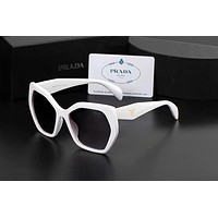 PRADA Fashion Women Summer Style Sun Shades Eyeglasses Glasses Sunglasses White I-AJIN-BCYJSH