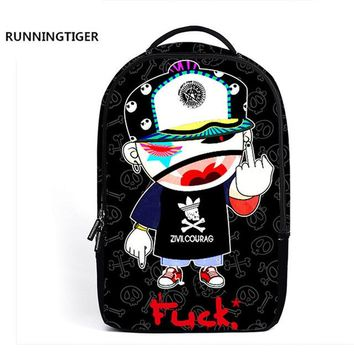 Student Backpack Children Designer 3D Cartoon Cool Boy 2018 School Backpack Women's  School Bags For Teenage Girls Boys Laptop Backpack AT_49_3