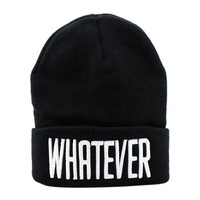 #3001 Fashion Winter Black Winter Whatever Hiphop Beanie Hat And Snapback Men And Women Knitted Cap Female Skullies