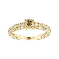 Ring Romance Brilliance in red gold, diamond | Rings RenéSim