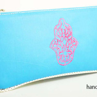 Evil Eye Turquoise Makeup Bag - Hand of Fez - The Hand of Fez