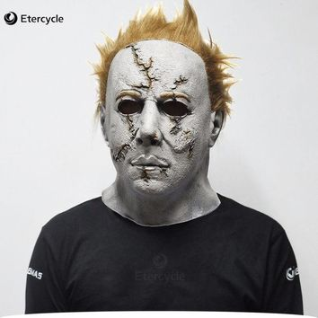 DCCKF4S Scary MichaelMyers Mask Horror Movie Halloween Cosplay Adult Latex Party Mask
