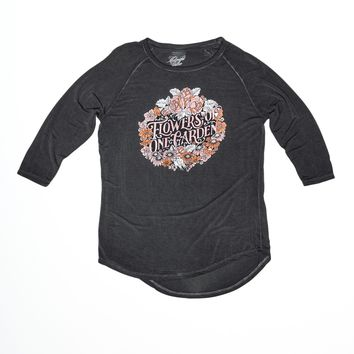 Flowers of One Garden Women's Raglan