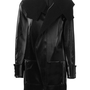 Anthony Vaccarello biker style vinyl coat
