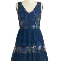 ModCloth Mid-length Sleeveless A-line Layers of Luxury Dress