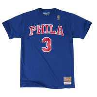 Throwback Philadelphia 76ers Allen Iverson Name Number Tee