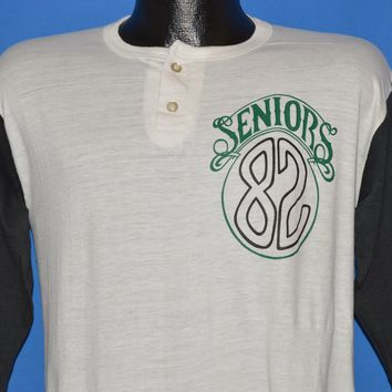 80s Seniors 1982 Raglan Henley t-shirt Medium