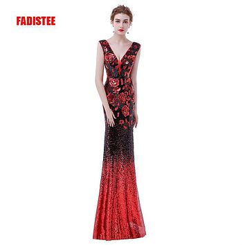 FADISTEE elegant party dress Prom Dresses Long dress Vestido de Festa mermaid sequined long sexy backless gown