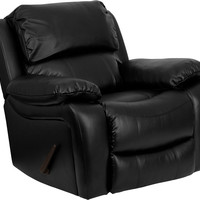 Black Leather Rocker Recliner