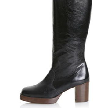 POP-ART Limited Edition Leather Boots - Black
