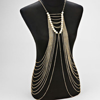 Harness Pearl Body Chain Jewelry