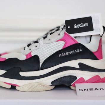 Balenciaga Triple S PINK WHITE BLACK EU39 / UK6 / US9
