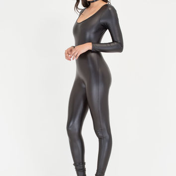 One More Time Shiny Long-Sleeve Jumpsuit GoJane.com