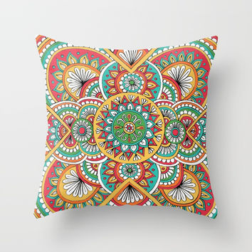 Desert Sun Throw Pillow by Sarah Oelerich