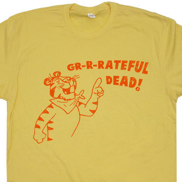 The Grateful Dead T Shirt Vintage Concert T Shirt Tony The Tiger T Shirt