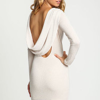 Sparkle Cowl Bodycon Dress - LoveCulture