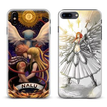 Fairy Tail Natsu Logo Anime Coque Phone Case Cover Shell For Apple iPhone X 8Plus 8 7Plus 7 6sPlus 6s 6Plus 6 5 5S SE