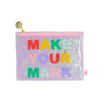 Floating Glitter Pouch: Make Your Mark