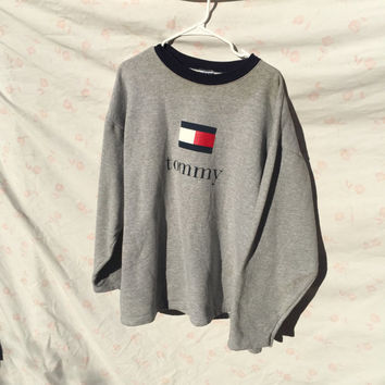 90 S Tommy Hilfiger Sweater Made In The Usa Great Quality Xl