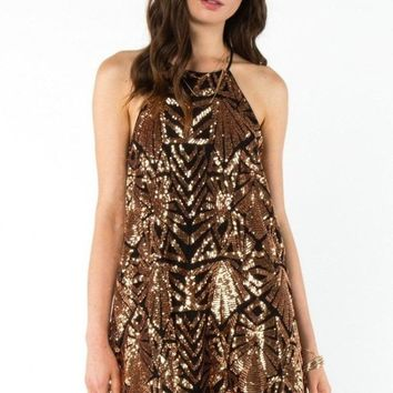 EVERLY Let it Sparkle Sequin Mini Dress
