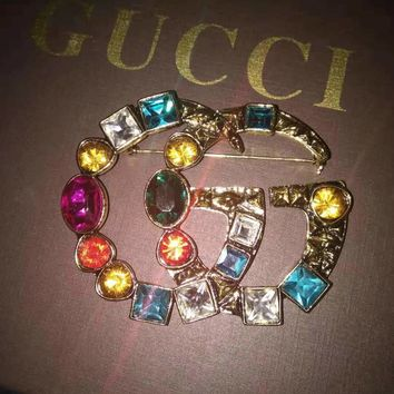 GUCCI Popular Women Stylish Chic Colorful Diamond Brooch Earrings Bracelet Necklace Accessories Jewelry