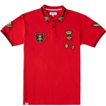 Gold Lurex Patch Polo