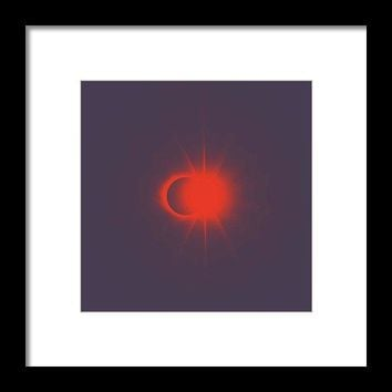 Solar Eclipse, Diamond Ring 2b - Framed Print