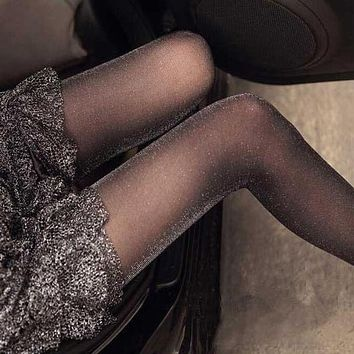Hot Selling Sexy Shiny Pantyhose Glitter Stockings Womens Glossy Tights Women Clothing Accessory Fashion Good Quality Gifts