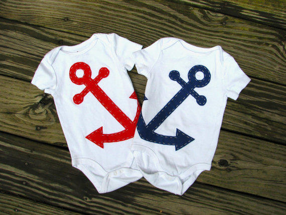 Anchor Baby Clothes Nautical Twin Baby by from