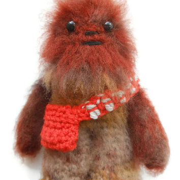 Chewbacca the Wookiee Collectable Figure - Star Wars Amigurumi - Made to Order